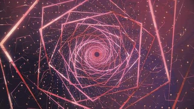 Purple Geometric Lotus Tunnel : Stock Motion Graphics