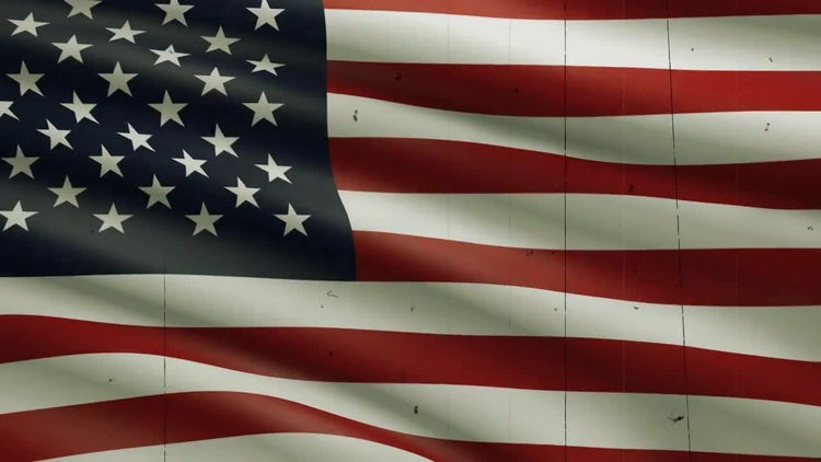USA Flag Background: Stock Motion Graphics