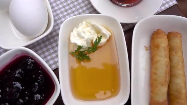 Traditional Turkish Breakfast Spread: Stock Video