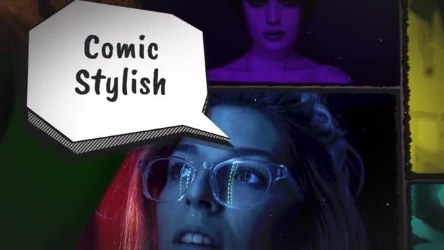 Contrast Gallery - Comic Style: Premiere Pro Templates