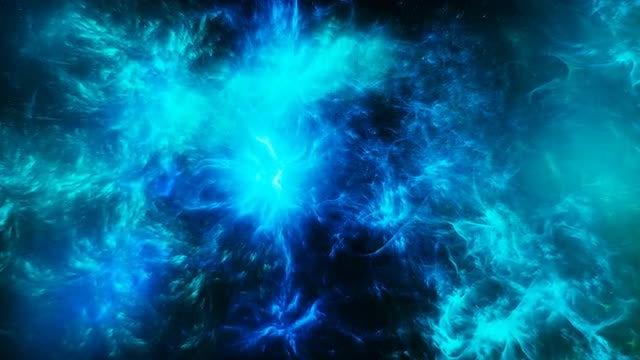 Abstract Blue Space Nebula: Stock Motion Graphics