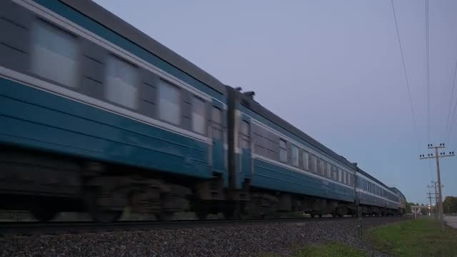 Train Passing By The Countryside: Stock Video