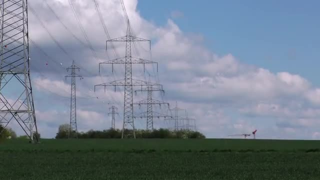 Electricity Towers In The Country: Stock Video