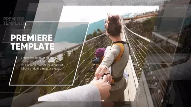 Slideshow Premiere - Clean Modern: Premiere Pro Templates
