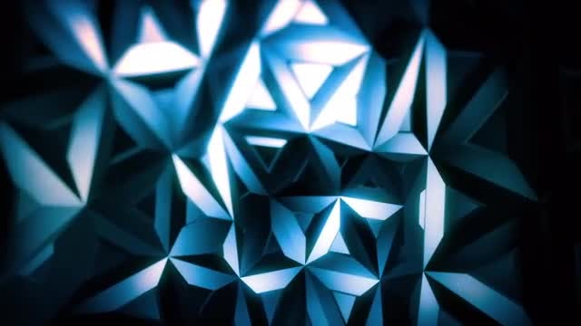 Blue Polygons Cutout Backdrop: Stock Motion Graphics