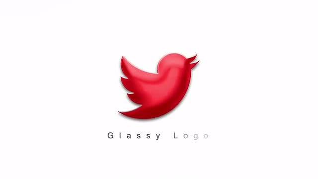 Glassy Logo: After Effects Templates