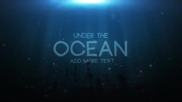 Underwater Title: Motion Graphics Templates