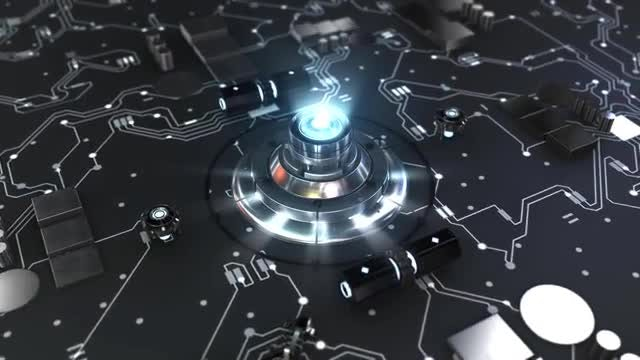Light-Up Knob On Mobo Loop: Stock Motion Graphics