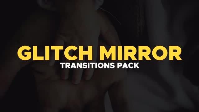 Glitch Mirror Transitions: Premiere Pro Templates