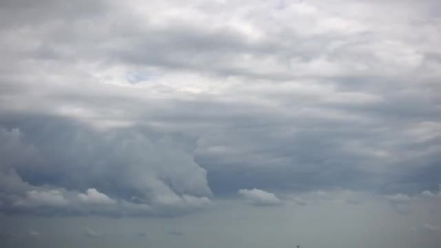 Multi-Layered Silver Clouds : Stock Video