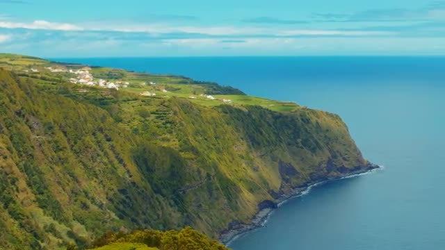 Panning Shot Of Beautiful Island : Stock Video