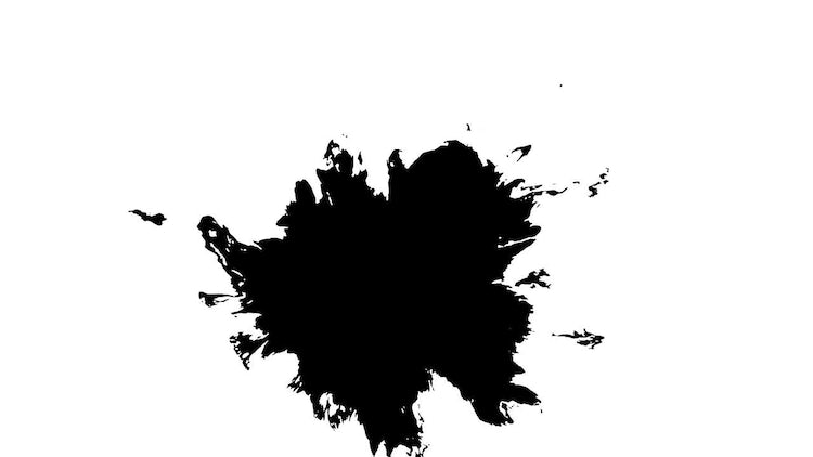 4k Ink Blots 09: Stock Video