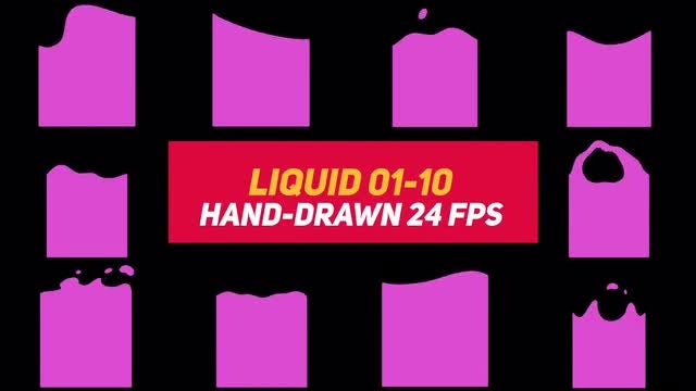 Liquid Elements 3 Liquid 01-10: Stock Motion Graphics