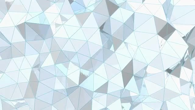 White Metal Low-Poly Background: Stock Motion Graphics