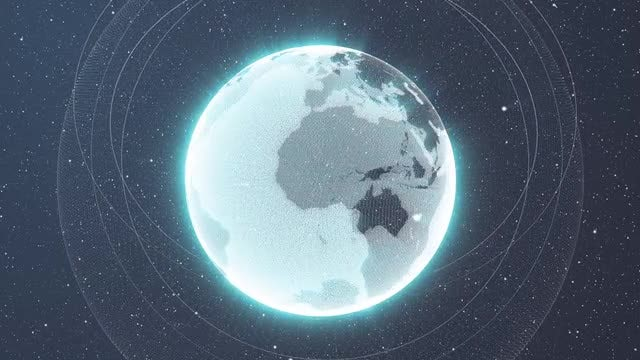 Shining Earth In Space: Stock Motion Graphics