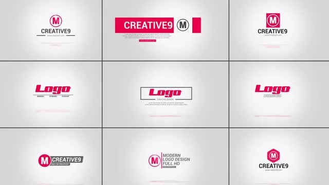 10 Flat Logo Opener Pack: After Effects Templates