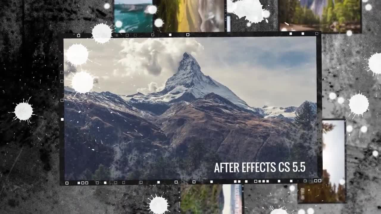 Grunge Camera Effect : Grunge slideshow after effects templates motion array