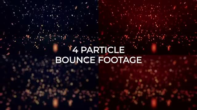 Blue-Red Particles Background Pack: Stock Motion Graphics