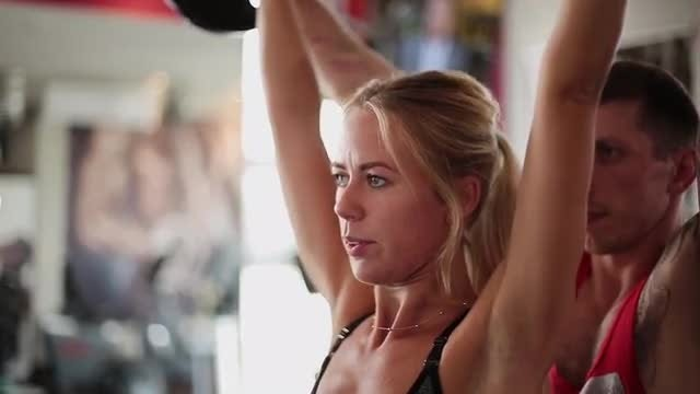 Weights Training Exercise: Stock Video