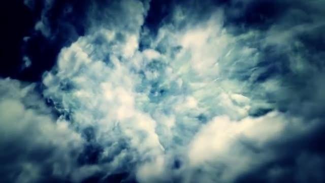 Flying/ Falling Through Dark Sky: Stock Motion Graphics