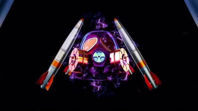 Gas Mask - Missiles VJ Loop: Stock Motion Graphics