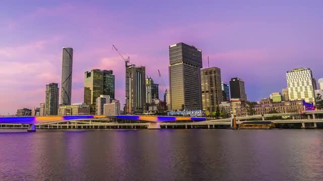 Time Lapse Of Brisbane City: Stock Video