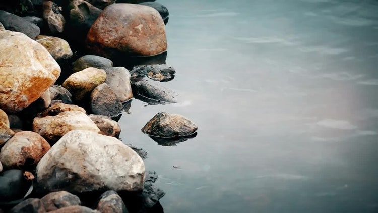 Close-up Of Stones And Water: Stock Video