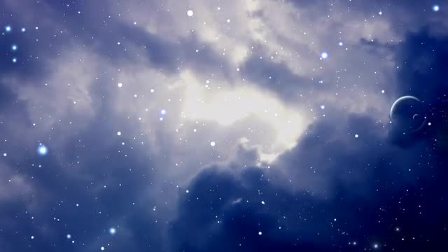 Space With Stars Zooming : Stock Motion Graphics