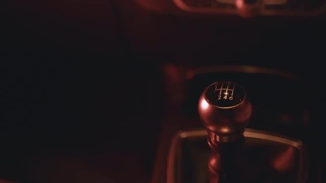 Man Shifting Manual Car Gears  : Stock Video