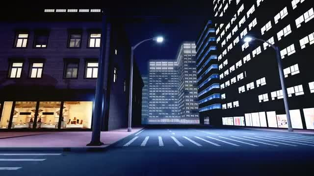 Cruising Through Streets At Night : Stock Motion Graphics