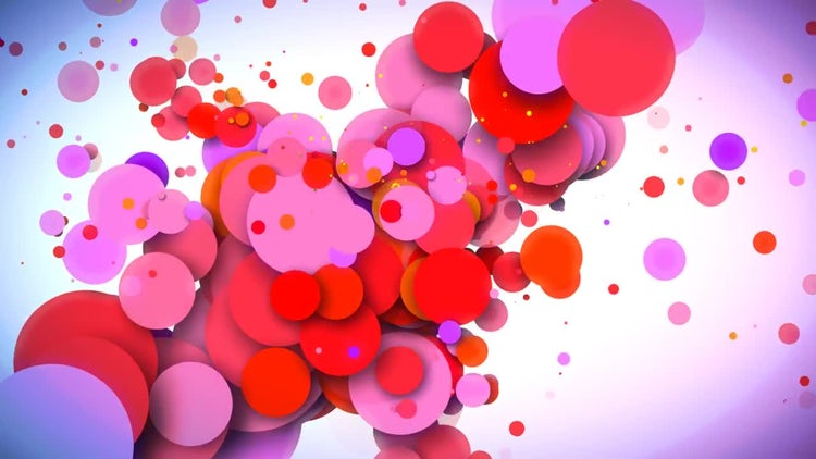 Dynamic Red And Purple Circles: Stock Motion Graphics