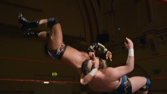 Wrestler Fighting In Slow Motion: Stock Video