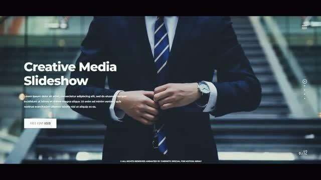 Clean Corporate Slideshow: Premiere Pro Templates