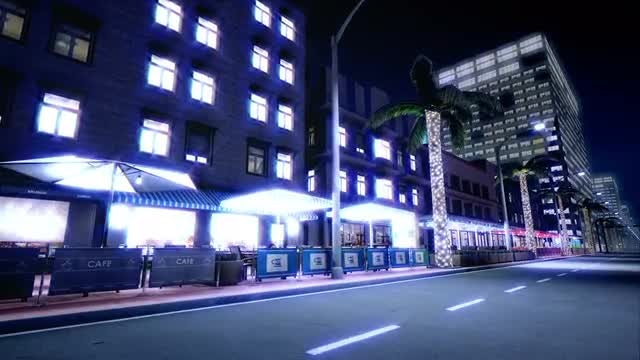 Night Street : Stock Motion Graphics