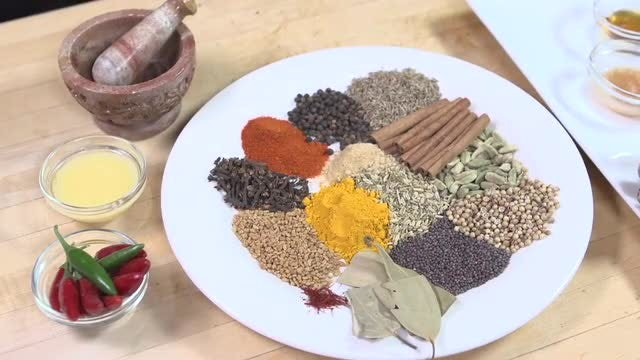 Indian Spices On The Table: Stock Video