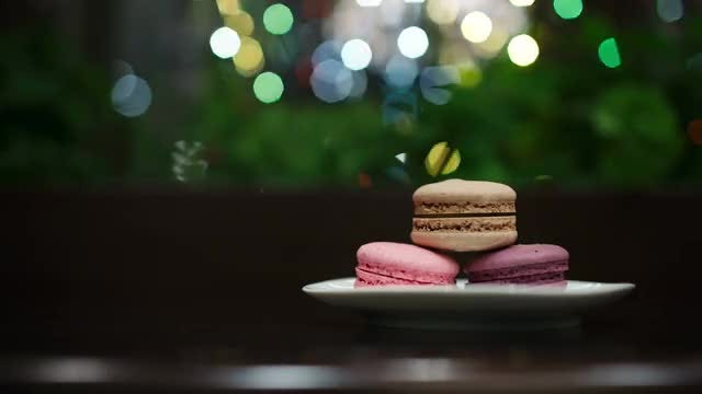 Holiday Macarons For Santa: Stock Video