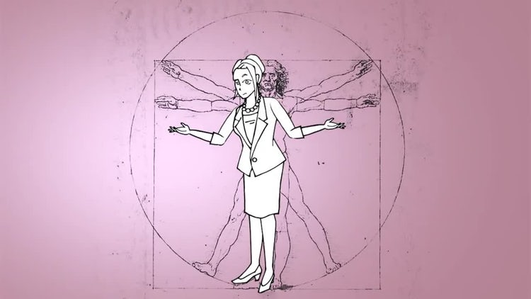 Doodle Animation - Female Character: After Effects Templates