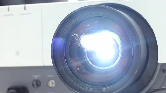 Projector Lens: Stock Video