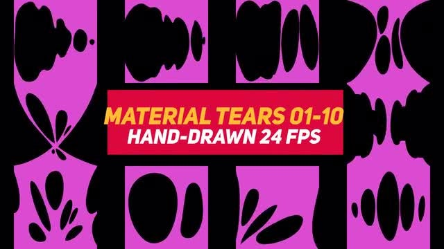 Liquid Elements 3 Material Tears 01-10: Stock Motion Graphics