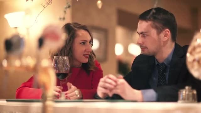 Man And Woman Talking: Stock Video