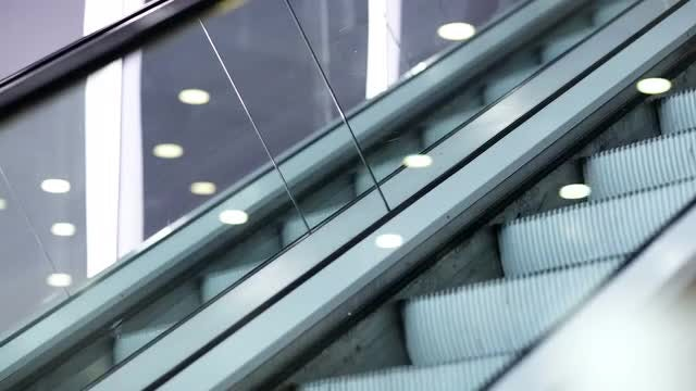 Escalators Moving Up And Down: Stock Video