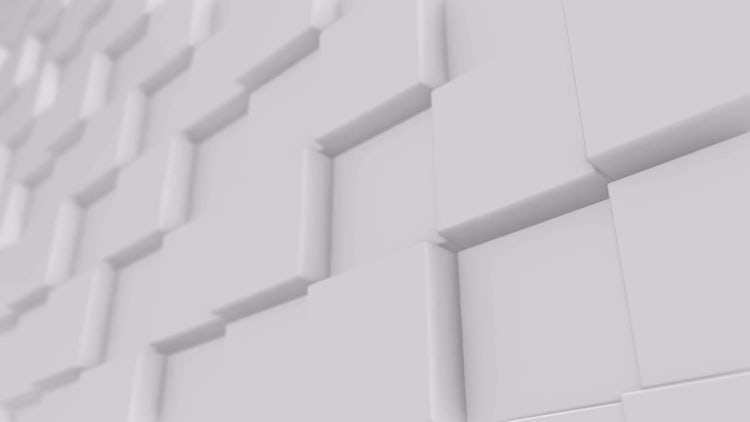 White Cube Background 4K: Stock Motion Graphics