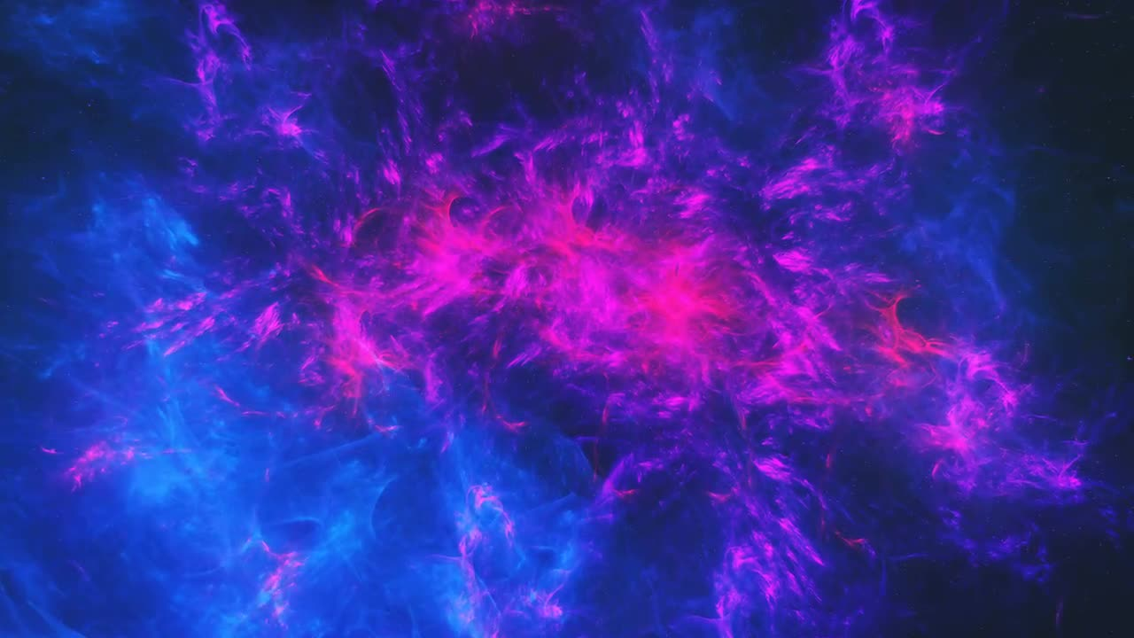 colorful blue and purple nebula in deep space stock motion graphics motion array