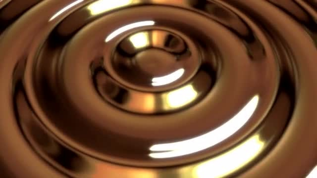 Loopable Liquid Brass Metal Ripple: Stock Motion Graphics