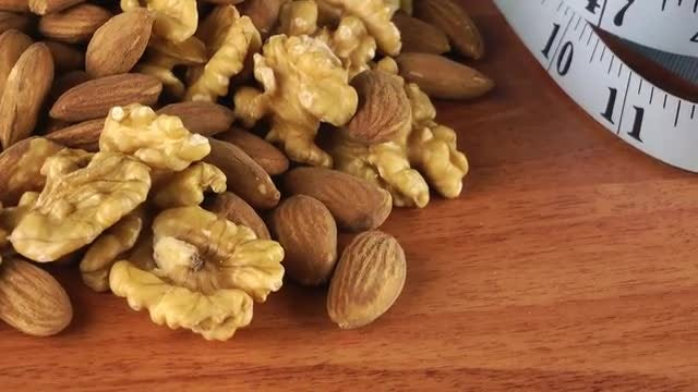 Nuts And Weight Loss: Stock Video