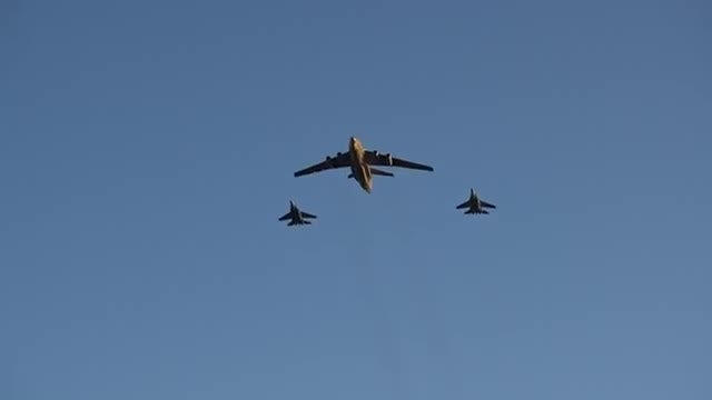 Combat Aircraft Flyover: Stock Video