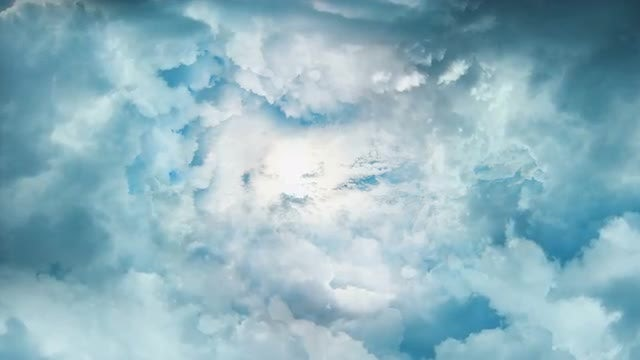 Bright Sun Behind The Clouds: Stock Motion Graphics