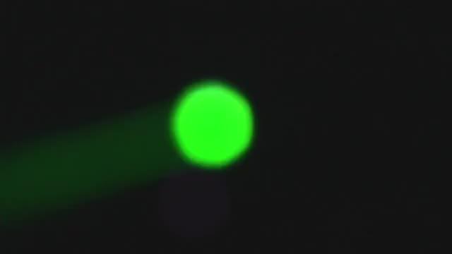 Green Disco Light Flashing: Stock Video