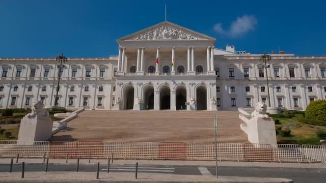Parliament Headquarters, Lisbon, Portugal: Stock Video