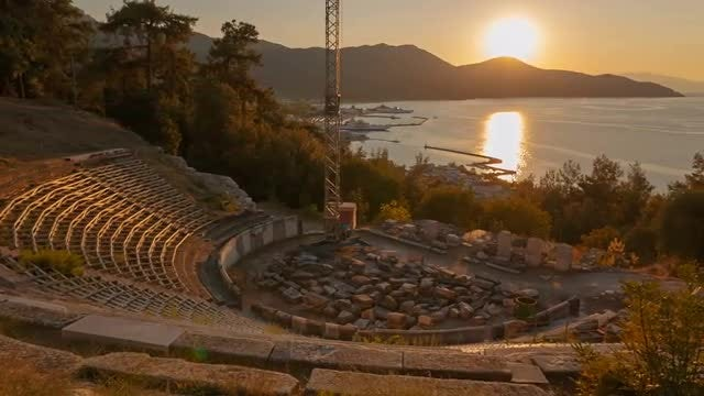 Ancient Greek Theater: Stock Video